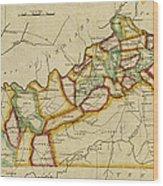 Map Of Kentucky 1812 Wood Print