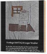 Vintage Maytag Wringer Washer Wood Print