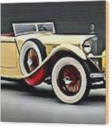 Vintage Mercedes Convertible Wood Print