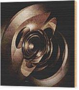 Vintage Metal Abstract Wood Print