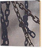 Vintage Metal Chains Wood Print