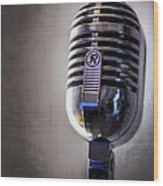 Vintage Microphone 2 Wood Print