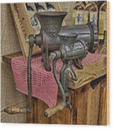 Vintage Mincers Wood Print