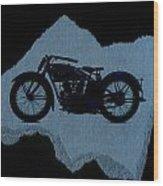 Vintage Motorcycle Wood Print