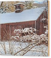 Vintage New England Barn Wood Print by Bill Wakeley