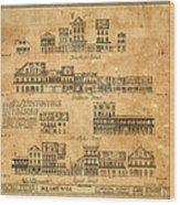 Vintage New Orleans Wood Print