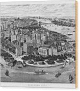 Vintage New York 1903 Wood Print
