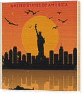 Vintage New York Poster Wood Print