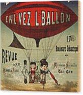Vintage Nostalgic Poster - 8030 Wood Print