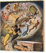 Vintage Nostalgic Poster - 8040 Wood Print