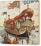 Vintage Nostalgic Poster - 8050 Wood Print