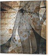 Vintage Nude  Wood Print