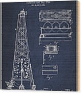 Vintage Oil Drilling Rig Patent From 1916 Wood Print