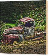 Vintage Old Forty's Pickup Wood Print