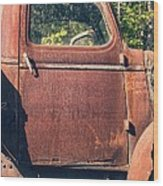 Vintage Old Rusty Truck Wood Print