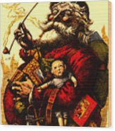 Vintage Original Coca Cola Red Santa Claus Poster Wood Print