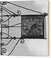 Vintage Paris Clock 2 Wood Print