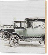 Vintage Parking Wood Print
