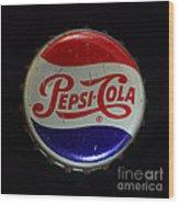 Vintage Pepsi Bottle Cap Wood Print