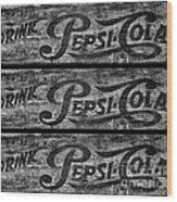 Vintage Pepsi Boxes Wood Print