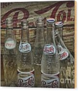 Vintage Pepsi Crate And Bottles Wood Print