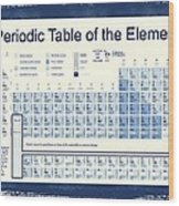 Vintage Periodic Table Of The Elements Wood Print by Dan Sproul