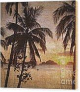 Vintage Philippines Wood Print