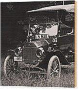 Vintage Photo Of Rural Mail Carrier - 1914 Wood Print