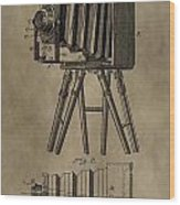 Vintage Photographic Camera Patent Wood Print