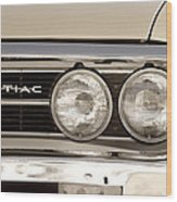 Vintage Pontiac Firebird 1967 Close Up Wood Print