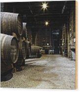 Vintage Porto Wine Cellar Wood Print