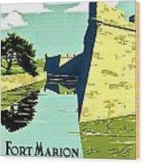 Vintage Poster - Fort Marion Wood Print