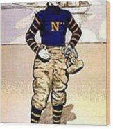 Vintage Poster - Naval Academy Midshipman Wood Print