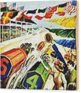 Vintage Poster - Sports - Indy 500 Wood Print