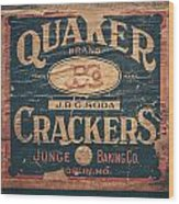 Vintage Quaker Crackers For The Kitchen Wood Print