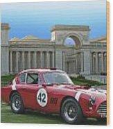 Vintage Race Car No. 42 Wood Print
