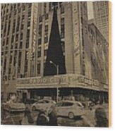 Vintage Radio City Music Hall Wood Print