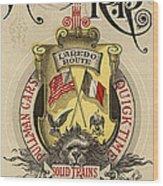 Vintage Train Ad 1897 Wood Print