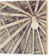 Vintage Reed Roof Wood Print