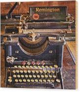 Vintage Remington Typewriter  Wood Print
