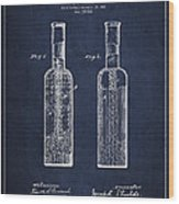 Vintage Rock Candy  Patent Drawing From 1881 Wood Print by Aged Pixel
