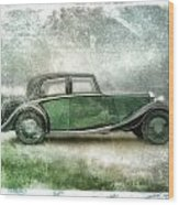 Vintage Rolls Royce Wood Print by David Ridley