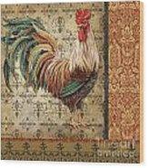 Vintage Rooster-a Wood Print