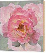 Vintage Rose Square Wood Print