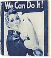 Vintage Rosie The Riveter Wood Print by Dan Sproul