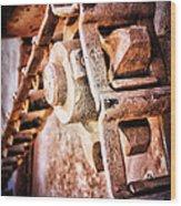 Vintage Rust Wood Print by Pam Vick