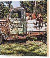 Vintage Rusty Old Truck 1940 Wood Print
