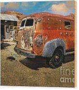 Vintage Rusty Chevy Panel Truck Wood Print