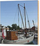 Vintage Sailing Boat - Ct Wood Print