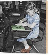 Vintage Schoolgirl Wood Print